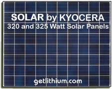 High efficiency solar panels from 50 Watts to 340 Watts by Kyocera Solar, Isofoton, Solar EV and more...